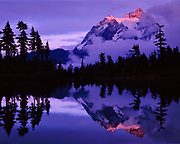 Mount Shuksan and Clearing Storm from Picture Lake, Mt. Baker-Snoqualmie Nat'l. Forest, Washington