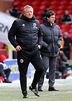Sheffield United manager Chris Wilder looks on from the touchline<br /> <br /> Photographer David Shipman/CameraSport<br /> <br /> The EFL Sky Bet Championship - Sheffield United v Nottingham Forest - Saturday 17th March 2018 - Bramall Lane - Sheffield<br /> <br /> World Copyright © 2018 CameraSport. All rights reserved. 43 Linden Ave. Countesthorpe. Leicester. England. LE8 5PG - Tel: +44 (0) 116 277 4147 - admin@camerasport.com - www.camerasport.com