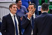 Guido Giovannetti, Roberto Begnis<br /> Banco di Sardegna Dinamo Sassari - Umana Reyer Venezia<br /> LBA Serie A Postemobile 2018-2019 Playoff Finale Gara 4<br /> Sassari, 16/06/2019<br /> Foto L.Canu / Ciamillo-Castoria