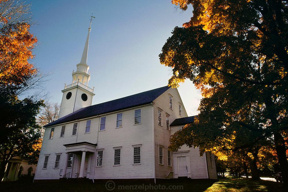 Church in Farmington, Connecticut during Fall. New England, USA.