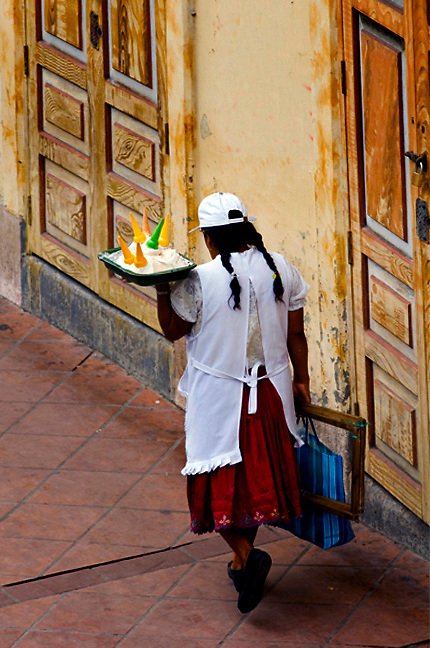 Cuenca, Ecuador, Selling sweets on the street