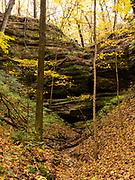 Starved Rock State Park, near Ottawa, Illinois, USA on a beautiful autumn day.