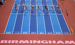 03-03-2018 GBR: World Indoor Championships Athletics day 3, Birmingham<br /> Nadine Visser heeft bij de WK indoor de finale van de 60 meter horden weten te bereiken. Visser maakte indruk door in de halve finales haar serie met een toptijd van 7,83 te winnen en ook het stokoude Nederlands record te verbeteren. <br /> Eline Berings BEL, Reetta Hurske FIN, Sharika Nelvis USA, Isabelle Pedersen NOR, Stephanie Bendrat AUT, Nadine Visser NED, Karolina Kołeczek POL, Andrea Ivancevic CRO