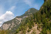 The Swiss, Austrian Border Near Martina. Crossing into Tyrol Austria