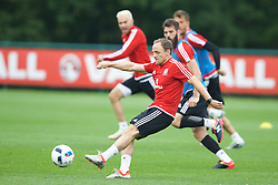 CARDIFF, WALES - Saturday, June 4, 2016: Wales' David Vaughan during a training session at the Vale Resort Hotel ahead of the International Friendly match against Sweden. (Pic by David Rawcliffe/Propaganda)