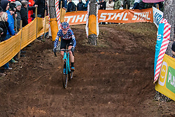 HONSINGER Clara (USA) during Women Elite race, 2019 UCI Cyclo-cross World Cup Heusden-Zolder, Belgium, 26 December 2019. <br /> <br /> Photo by Pim Nijland / PelotonPhotos.com <br /> <br /> All photos usage must carry mandatory copyright credit (Peloton Photos   Pim Nijland)