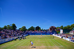 LIVERPOOL, ENGLAND - Sunday, June 24, 2018: A general view as Corinna Dentoni (ITA) and Ellie Tsimbilakis (GBR) play during day four of the Williams BMW Liverpool International Tennis Tournament 2018 at Aigburth Cricket Club. (Pic by Paul Greenwood/Propaganda)