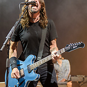 WASHINGTON, DC - October 12th, 2017 - Dave Grohl and keyboardist Rami Jaffee of the Foo Fighters perform during the opening concert at The Anthem, Washington, D.C.'s newest concert hall. (Photo by Kyle Gustafson / For The Washington Post)