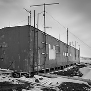 1960's era Cos-Ray building located on the road between McMurdo and New Zealand's Scott Base.