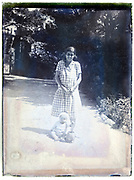 mother with toddler outdoors 1930s