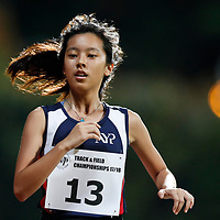 Joey Yap of Nanyang Polytechnic in action during the women's 5000m event. (Photo © Lim Yong Teck/Red Sports) The 2018 Institute-Varsity-Polytechnic Track and Field Championships were held over three days in January.<br /> <br /> Story: https://www.redsports.sg/2018/01/15/ivp-day-one/<br /> <br /> Story: https://www.redsports.sg/2018/01/18/ivp-day-two/<br /> <br /> Story: https://www.redsports.sg/2018/01/23/ivp-day-three/