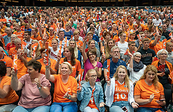 11-08-2019 NED: FIVB Tokyo Volleyball Qualification 2019 / Netherlands - USA, Rotterdam<br /> Final match pool B in hall Ahoy between Netherlands vs. United States (1-3) and Olympic ticket  for USA / Orange support, fans