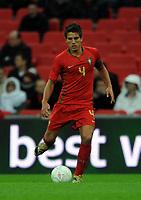 England U21/Portugal U21 European Under 21 Championship 14.11.09 <br /> Photo: Tim Parker Fotosports International<br /> Daniel Carrico Portugal Under 21's 2009/10