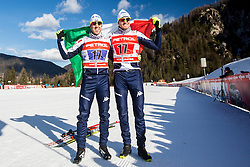 Noeckler Dietmar and Pellegrino Federico of Italy during 6 x 1.2 km Team Sprint Free race at FIS Cross Country World Cup Planica 2016, on January 17, 2016 at Planica, Slovenia. Photo By Grega Valancic / Sportida