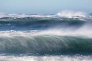 0.6 second exposure of waves crashing on Jökulsárlón Beach in southern Iceland