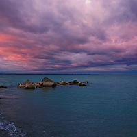 """""""Cotton Candy Over Ontario""""<br /> <br /> Gorgeous skies at sunset over Lake Ontario looking like pink and blue  cotton candy!!"""