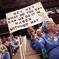 Hortense B. Raynor of Apex, NC  <br /> UNC vs Maryland game<br /> Photo/Mike Spencer.