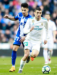 Real Madrid's Mateo Kovacic (r) and Deportivo Alaves' Hernan Perez during La Liga match. Madrid, Spain, on February 24,2018. Photo by Acero/AlterPhotos/ABACAPRESS.COM