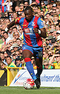 Yannick Bolasie out running the Norwich Defence during the Barclays Premier League match between Norwich City and Crystal Palace at Carrow Road, Norwich, England on 8 August 2015. Photo by Craig McAllister.