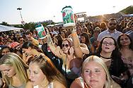 Fans cheer as Jackie Lee performs as the opener for Sam Hunt Aug. 8, 2021, during Musikfest in Bethlehem, Pennsylvania.