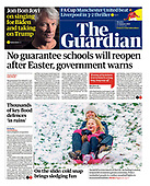January 25, 2021 (UK): Front-page: Today's Newspapers In United Kingdom