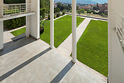 Architecture, wide veranda of a modern house, top view
