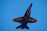 Blue Angel high performance climb at the Oregon International Airshow.