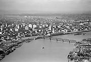 ackroyd-02104-6. Portland Harbor, Hawthorne Bridge, March 29, 1950