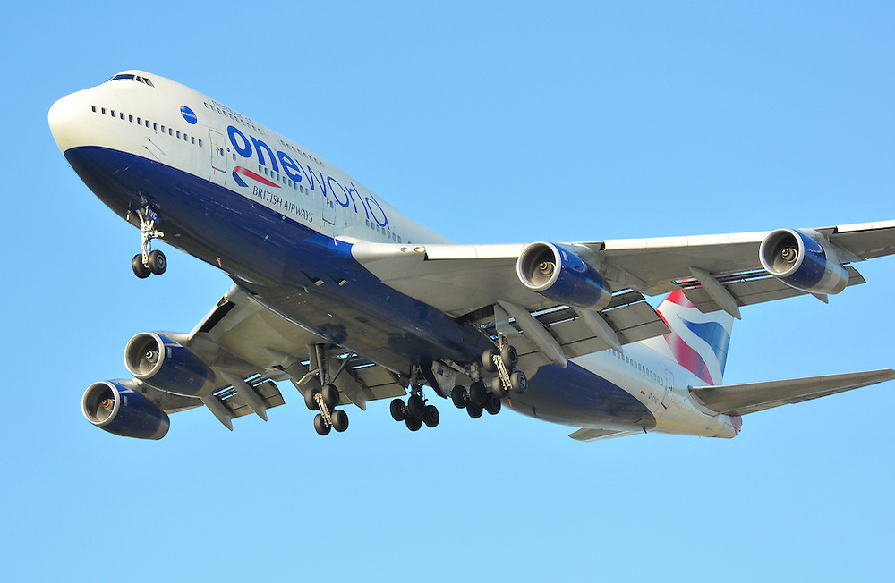 British Airways 747 on short final into Vancouver.