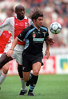 Marcelo Salas (Lazio) and Ferdi Vierkau (Ajax). Ajax v Lazio. The Amsterdam Tournament. Amsterdam Arena, 3/8/2000. Credit: Colorsport / Stuart MacFarlane.
