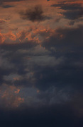 Sunset sky, summer