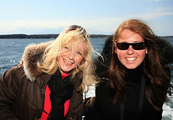 Veronika Potocnik, girlfriend of Marcel Rodman,and her friend  at whale watching boat, during IIHF WC 2008 in Halifax,  on May 07, 2008, sea at Halifax, Nova Scotia, Canada. (Photo by Vid Ponikvar / Sportal Images)