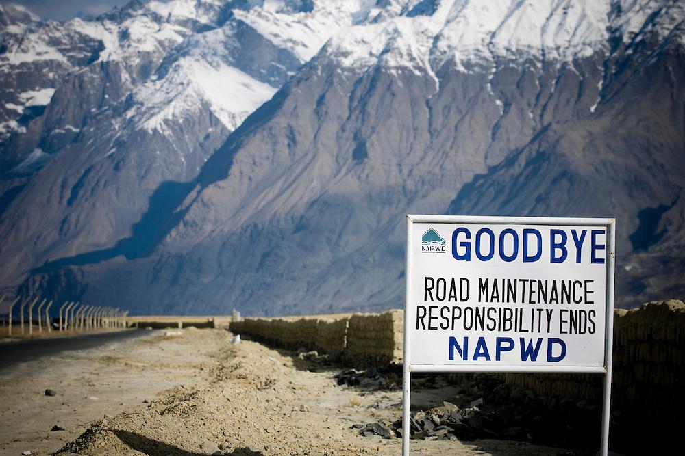 Start of the Karakoram Highway, Skardu, Pakistan.