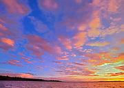 Sunset on Pakwash Lake<br /> Pakwash Lake Provincial Park<br /> Ontario<br /> Canada