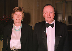 BRIGADIER ANDREW & MRS PARKER BOWLES, he is the former husband of Camilla Parker Bowles, at a dinner in London on 17th November 1998. MMB 38