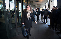 © Licensed to London News Pictures. 06/02/2018. London, UK. EMMA MERCER,  former finance director, Carillion,  leaves Portcullis house in London where former bosses of the outsourcing firm Carillion have given evidence to a Business, Energy and Industrial Strategy Committee and the Work and Pensions Committe. Carillion plc, a major government contractor, went in to administration in January 2018. Photo credit: Ben Cawthra/LNP