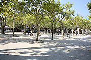 Saint-Tropez, France urban park in front of Le Cafe