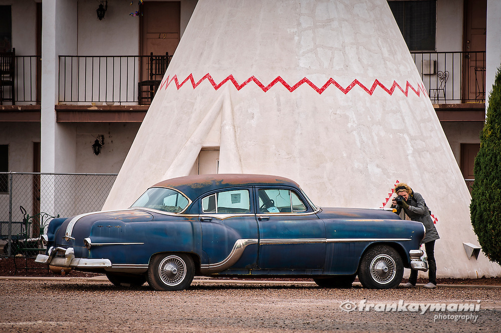 Color images of the Wigwam Motel in Holbrook, AZ.