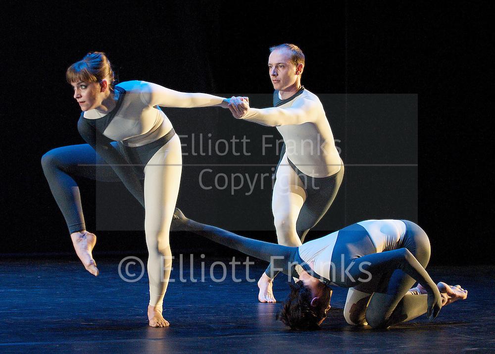 Nearly Ninety<br /> The Merce Cunningham Dance Company <br /> choreography by Merce Cunningham<br /> at The Barbican Theatre, London, Great Britain <br /> rehesrsal <br /> 26th October 2010 <br /> <br /> <br /> <br /> Silas Riener<br /> Jamie Scott<br /> John Hinrichs<br /> <br /> Photograph by Elliott Franks<br /> 2010©Elliott Franks