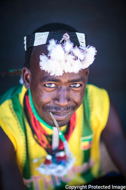 Hamer Men, Dimeka Market, Omo Valley, Ethiopia