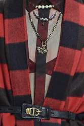 February 26, 2019 - Paris, France - Christian Dior. - Model On CloseUp Catwalk, Woman Women, Paris Fashion Week 2019 Ready To Wear For Fall Winter, PAP, Defile, Fashion Show Runway Collection, Pret A Porter, Modelwear, Modeschau Laufsteg Autumn Herbst France .Model, Details, Accessories, Catwalk, Runway, Fashion Show, Style, Trend, Look, Outfit, (Credit Image: © FashionPPS via ZUMA Wire)