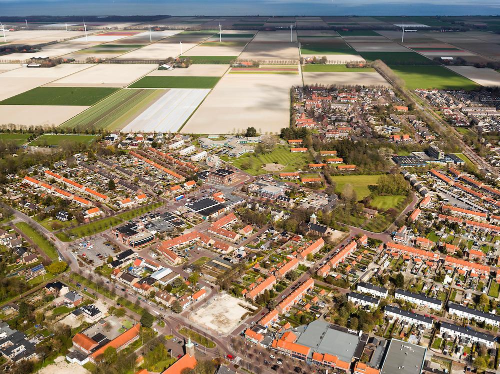 Nederland, Noord-Holland, Gemeente Wieringermeer, 16-04-2012. Wieringerwerf. Planned Village Wieringerwerf in polder...luchtfoto (toeslag), aerial photo (additional fee required);.copyright foto/photo Siebe Swart
