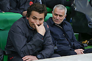 Jose Mourinho Manager of Manchester United Manager smiles during the Europa League match between Saint-Etienne and Manchester United at Stade Geoffroy Guichard, Saint-Etienne, France on 22 February 2017. Photo by Phil Duncan.