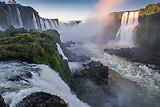 Iguacu Falls<br /> Iguacu National Park, UNESCO World Heritage site<br /> Largest waterfalls in the the world<br /> 2.7km wide<br /> Height varies from 60 to 82 meters<br /> Brazil