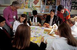 Drugs awareness lesson, secondary school, Barnet, London UK