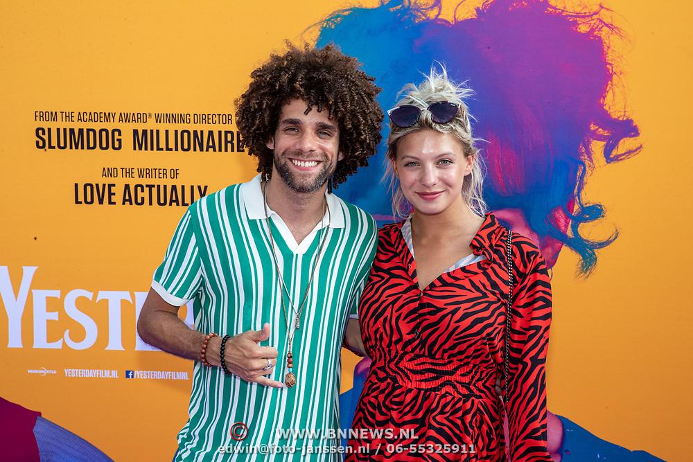 NLD/Amsterdam/20190624 - speciale voorvertoning Yesterday,  Jermaine Fleur and Amber Delil