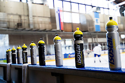 Bottles at first practice of Slovenian National Ice Hockey team before IIHF Ice Hockey World Championship Division I Group A in Budapest, on April 17, 2018 in Ledena dvorana, Bled, Slovenia. Slovenia. Photo by Matic Klansek Velej / Sportida