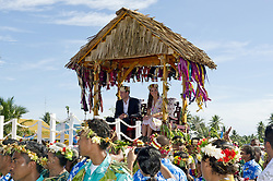 File photo dated 19/09/12 of the Duke and Duchess of Cambridge bidding farewell to Tuvalu, Soloman Islands, at the end of a nine-day royal tour of the Far East and South Pacific. The Duchess of Cambridge will have spent a decade as an HRH when she and the Duke of Cambridge mark their 10th wedding anniversary on Thursday. Issue date: Wednesday April 28, 2021.