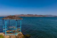 panorama landscape of Lake Sevan landmark of Gegharkunik Armenia eastern Europe