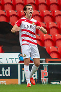 Doncaster Rovers forward John Marquis celebrates as he scores a goal 1-0 during the EFL Sky Bet League 1 match between Doncaster Rovers and Bradford City at the Keepmoat Stadium, Doncaster, England on 22 September 2018.